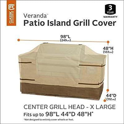 Classic Accessories Veranda Full Coverage Center Grill Island Cover, X-Large