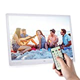 Digital Photo Picture Frame, Andoer 15 inch Digital Picture Frame 1280x800 HD Resolution 16:9 Wide Picture Screen Offers a Clear and Distinct Display (White)