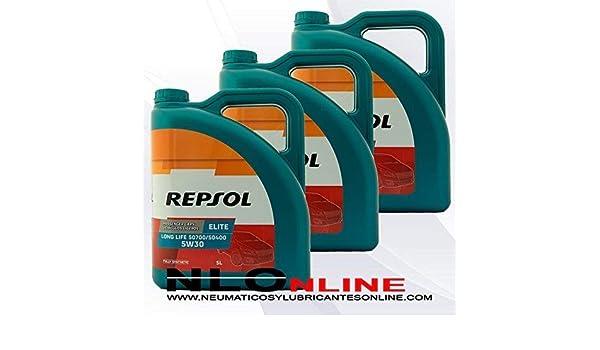 ACEITE MOTOR REPSOL ELITE TDI 50501 5W-40 5 litros (15 litros): Amazon.es: Coche y moto