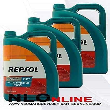ACEITE MOTOR REPSOL ELITE TDI 50501 5W-40 5 litros (15 litros ...