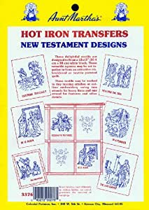 Aunt Martha's New Testament Motif Iron On Transfer Pattern Collection