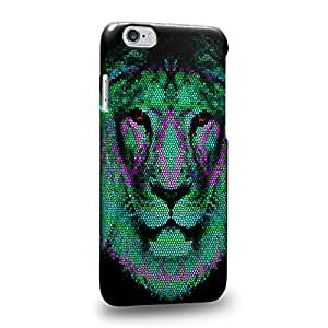 """Case88 Premium Designs Art Animal Aztec Face Series Aztec Lion Face Green Carcasa/Funda dura para el Apple iPhone 6 4.7"""""""