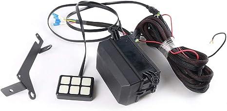 NAIXUE Panel de interruptores de 6 pandillas Sistema de relé electrónico Caja de control de circuito Caja de relé de fusible a prueba de agua Conjunto de arnés de cableado para automóvil:
