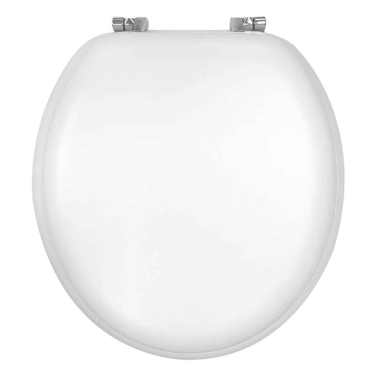 Design Trends Standard Memory Foam Toilet Seat with Chrome Hinges, White by Ginsey Home Solutions (GINSV)