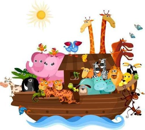 Wallmonkeys Noahs Ark Wall Decal Peel and Stick Graphic (52 in W x 47 in H) WM316202