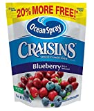 Craisins Ocean Spray Dried Cranberries, Blueberry, 12 Ounce (Pack of 12)