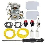 HIPA C1M-W26C 545070601 Carburetor + Air Filter Spark Plug Carb Adjustment Tool for Poulan Pro PP3416 PP3516 PP3816 PP4018 PP4218 PPB3416 SM4218AV Gas Chainsaw