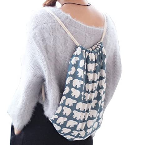 weimay mochila cord/ón impermeable mochila Drawstring Backpack saco gym Sack Bolsa de senderismo viaje