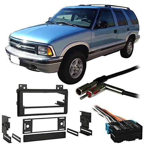 Fits Chevy S-10 Blazer 95-97 Single DIN Stereo Harness Radio Install Dash Kit ()