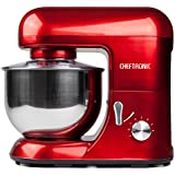 Cheftronic Powerful 650w Planetary Stand Mixer 5.5qt Bowl (Red)