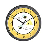 CafePress – Bumble Bee Yellow – Unique Decorative 10″ Wall Clock Review