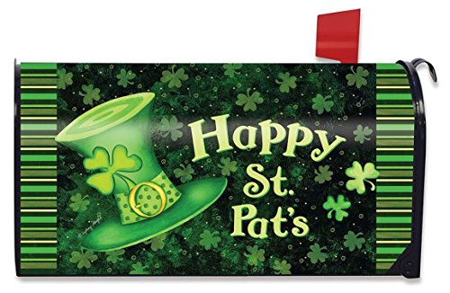 St. Pat's Hat Magnetic Mailbox Cover St. Patrick's Day Briarwood Lane Standard (Magnetic Mailbox Covers)