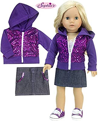 Pink Three Layer Miniskirt /& Shoes Fit For 18/'/' American Girl Doll Clothes Dress