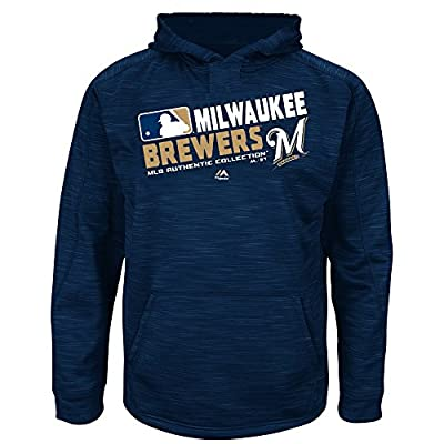 MLB Youth Authentic Collection Team Choice Streak Fleece Hoodie (Youth Xlarge 18/20, Milwaukee Brewers)