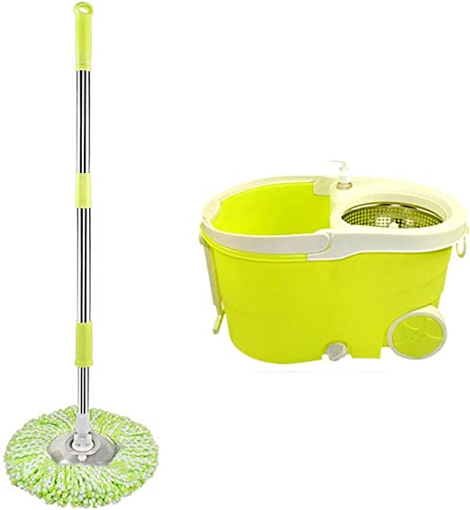 Trapeador Spinning Mop and Bucket Cleaning Set Hangable Presión de ...
