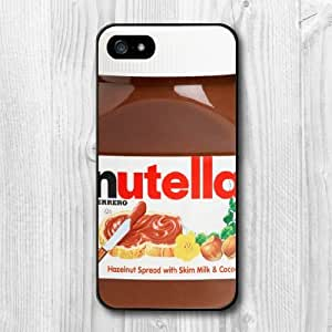 For iPhone 5 5S Case, New Design Chocolate Nutella Pattern Protective Hard Phone Cover Skin Case For iPhone 5 5S +Screen Protector