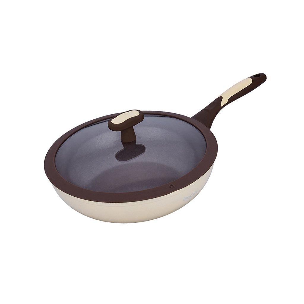 YONGJUN Sartén De Cerámica - Sartén Antiadherente De 28 Cm (11 Pulgadas), Sartén Sin Humo para El Hogar, Estufa De Gas, Utensilios De Cocina Universales: ...