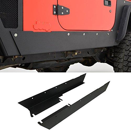 EAG E-Autogrilles 97-06 Jeep Wrangler TJ Armor Rocker Panel Guard Rock Sliders - Guards Rocker Yj