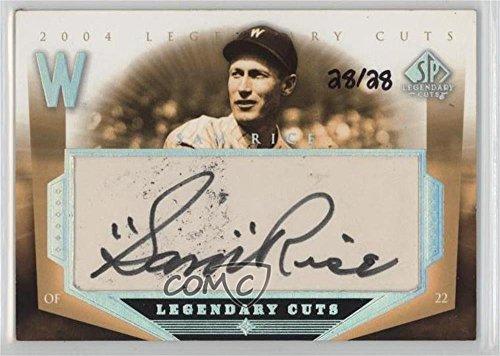 Sam Rice #28/28 (Baseball Card) 2004 SP Legendary Cuts - Legendary Cuts Cut Autographs #SR