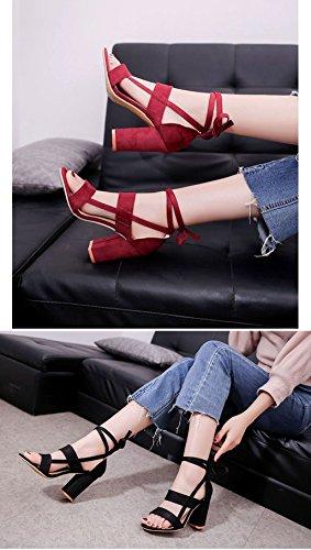 pour Rouge à Lacets IMAGICSUN Chaussures de Ville Femme 0xBawgXnw