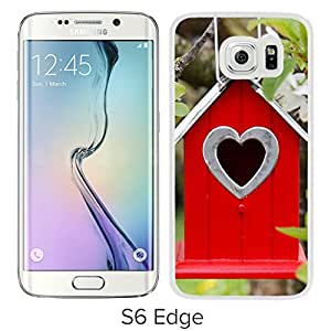New Pupular And Unique Designed Case For Samsung Galaxy S6 Edge With Tree Flowers Branch Birdhouse White Phone Case