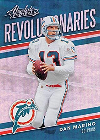 2018 Absolute Football Revolutionaries  11 Dan Marino Miami Dolphins  Official NFL Trading Card made by ba830f3ae