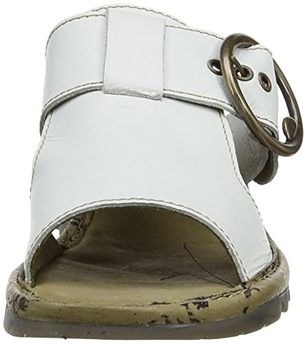 Fly London Tute, Women's Wedge Heel Sandals Off White (Off White)