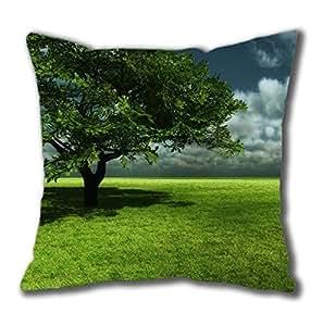 3D Nature Tree POP Cotton Square Pillow Case by Cases & Mousepads