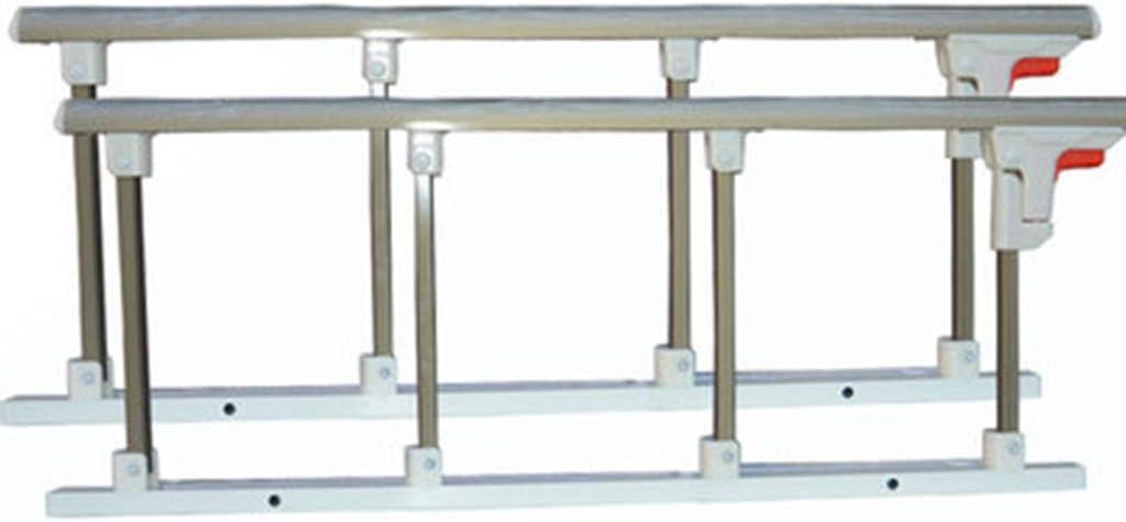 JIMI-I Un par de cercas de aleación de Aluminio, reposabrazos Plegables, Accesorios de Cama para el Cuidado de la Cama, Valla Anti-caída para el Viejo.