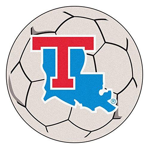 (NCAA Louisiana Tech University Tigers Soccer Ball Mat Round Area Rug)