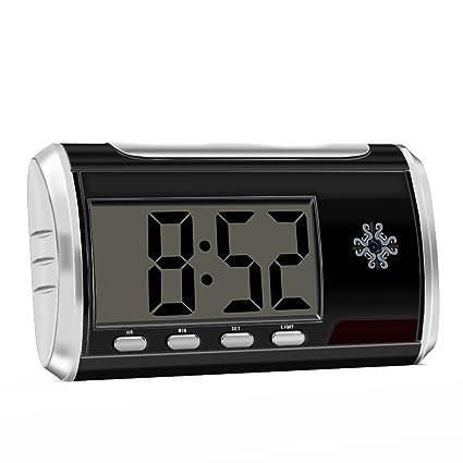 Aisoul Cámara Oculta Espía Despertador - HD 1080P Cámara de Seguridad Interior con la Batería Recargable de ...