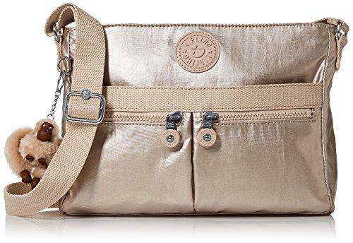 Kipling Angie Sparkly Gold Convertible Crossbody Bag, Sparklygld by Kipling