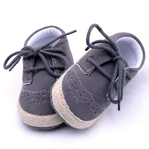 Clode® Neugeborene Säuglings Baby Mädchen Jungen Krippe Schuhe Weiche alleinige Anti Rutsch Turnschuh Schuhe (12~18Monate, Dark gray)