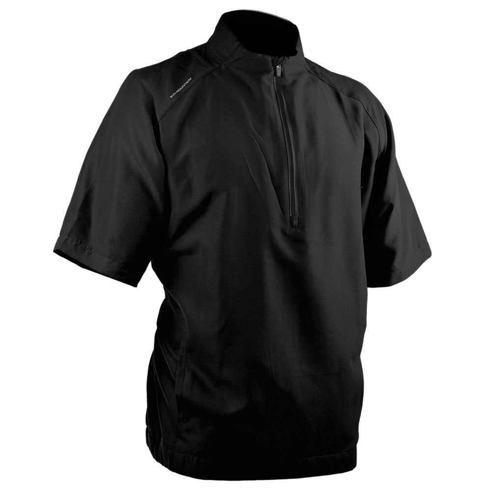 Sun Mountain Brushed Solo Short Sleeve Golf Pullover 2018 Black X-Large