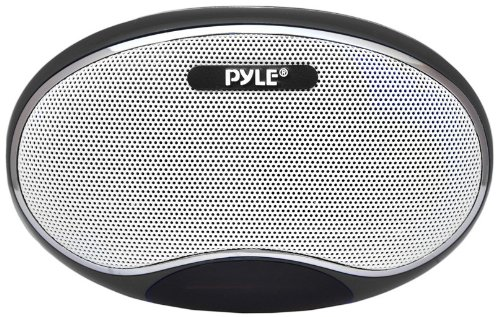 Pyle Home PSPFM1B Portable MP3 Speaker with Rechargeable Battery, LED Display, MP3/Micro SD/USB, FM, Aux Input (Black) by Pyle