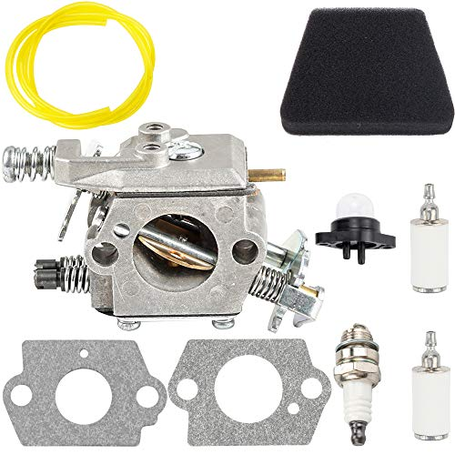 (Dxent Carburetor Fuel Line Filter Kit fit Walbro W-20 WT-324 WT-624 Tune Up Parts Carb 545081885 Carby Craftsman Poulan Sears Engine)