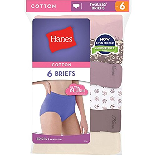 Hanes Womens Cotton Briefs - Hanes womens No Ride Up Cotton Brief 6-Pack(PP40AD)-Asst/Solid-7