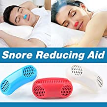 UPGRADED Advanced 2-IN-1 Anti Snoring and Air Purifier Sleeping Breath Aid Nose Clip Snore Stopper to Ease Breathing Snoring ,Natural and Comfortable Sleep (BLUE)