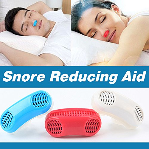 UPGRADED Advanced 2-IN-1 Anti Snoring and Air Purifier Sleeping Breath Aid Nose Clip Snore Stopper to Ease Breathing Snoring,Natural and Comfortable Sleep (Blue)