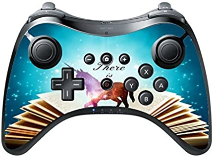 There Is Magic Quote Spell Book Unicorn Design Print Image Wii U Pro Controller Vinyl Decal Sticker Skin by Trendy Accessories by Trendy Accessories