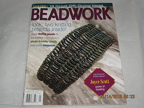 Knitted Bracelet Wire (Beadwork - December 2003 / January 2004 (Magazine - Bead Art of Susan Smith, Dinah Ihle, Joyce J. Scott. Knitted Wire Wonder Necklace, Sectioned Wire Bracelet, Bead Knit Bracelet, Beaded Snowman, Pillow Beads., Vol. 7, No. 1))