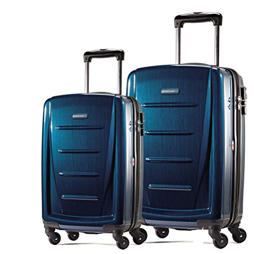 Samsonite Winfield 2 Fashion 2 Piece Set Spinner 20 and 28 With Travel Pillow (One Size, Deep Blue)