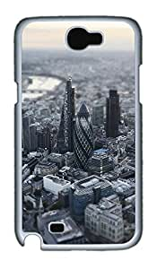 Samsung Note 2 Case London Aerial Miniature View PC Custom Samsung Note 2 Case Cover White