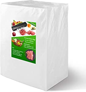 Vacuum Sealer Bags, 200 Pint 6 x 10 Inch Food Saver Bags for Seal a Meal, BPA Free, Commercial Grade, Sous Vide Vaccume Seal PreCut Bag
