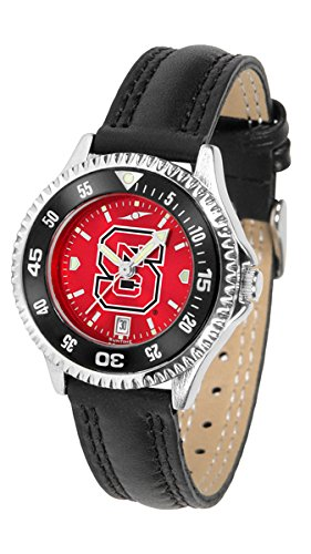 Wolfpack Womens Watch - North Carolina State Wolfpack Competitor AnoChrome Women's Watch - Color Bezel