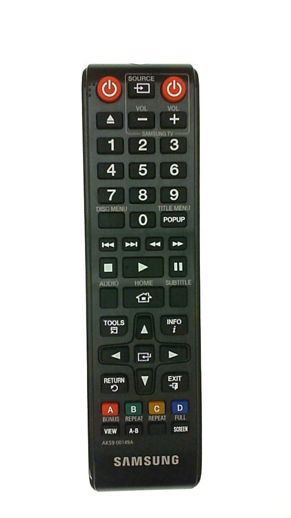 Samsung OEM Original AK59-00149A Blu-Ray Player Remote Control For SAMSUNG BD-F5100 FM51C BD-F5700 FM57C BD-H5100 HM51 BD-H5700 HM57C BD-H5900 HM59C BD-J5100 JM51C BD-J5700 JM57C BD-J5900 JM59C E5400 by B00H4IYP2K
