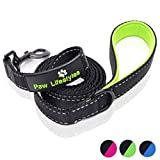 Paw Lifestyles Extra Heavy Duty Dog Leash - 6ft Long - 3mm Thick, Soft Padded Handle for Comfort - Perfect Leashes for Medium and Large Dogs