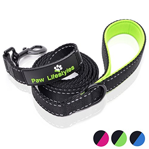 Mutt Gear Comfort Dog - Paw Lifestyles Extra Heavy Duty Dog Leash - 6ft Long - 3mm Thick, Soft Padded Handle for Comfort - Perfect Leashes for Medium and Large Dogs
