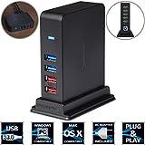 Sabrent 7 Port USB 3.0 HUB + 2 Charging Ports with 12V/4A Power Adapter [Black] (HB-U930)