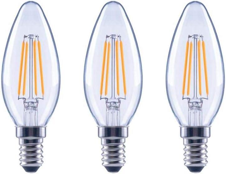 FG-03299 60-Watt Equivalent B11 Dimmable Energy Star Clear Glass Filament Vintage Edison LED Light Bulb in Soft White 3-Pack